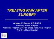 PAIN AFTER BREAST CANCER SURGERY Powerpoint Presentation