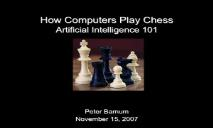 How computers play chess PowerPoint Presentation