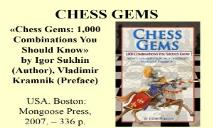 Chess Gems (1000 Combinations You Should Know) PowerPoint Presentation
