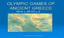 OLYMPIC GAMES OF ANCIENT GREECE PowerPoint Presentation