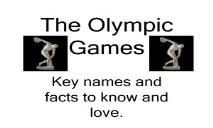 The Olympic Games PowerPoint Presentation