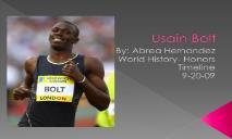 About Usain Bolt PowerPoint Presentation