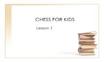 CHESS FOR KIDS PowerPoint Presentation