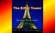 A Eiffel Tower PowerPoint Presentation