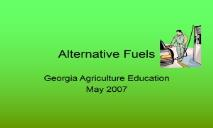 Alternative Fuels-Welcome to the Georgia Agriculture PowerPoint Presentation