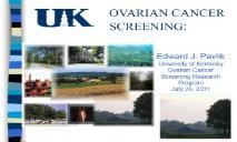 Ovarian Cancer Screening PowerPoint Presentation