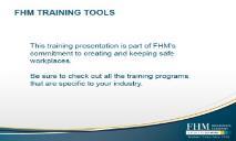Intro to OSHA PowerPoint Presentation