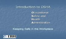 Introduction to OSHA-Worklife Matters PowerPoint Presentation
