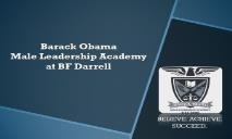 Barack Obama Male Leadership Academy PowerPoint Presentation