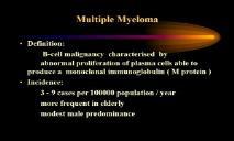 Multiple Myeloma - University of South Carolina PowerPoint Presentation