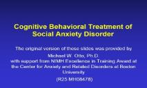 Pollack APA Symposium-Anxiety Disorders Association of America PowerPoint Presentation