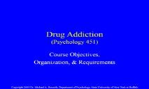 Drugs Addiction PowerPoint Presentation