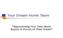 Your Dream Home Team-Twin Oaks Toastmasters PowerPoint Presentation
