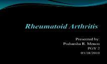 Human Rheumatoid Arthritis PowerPoint Presentation