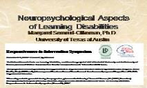 Neuropsychology and Learning Disabilities PowerPoint Presentation