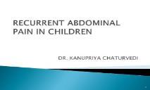 RECURRENT ABDOMINAL PAIN PowerPoint Presentation