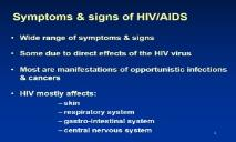 Symptoms & signs of HIV-AIDS PowerPoint Presentation