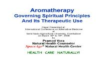 Aromatherapy and its Therapeutic Uses PowerPoint Presentation