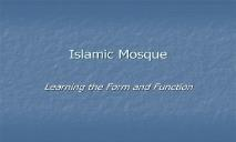 Islamic Mosque PowerPoint Presentation