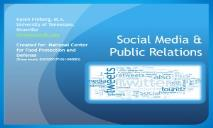 Social Media and Public Relations PowerPoint Presentation