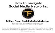How to navigate Social Media Networks PowerPoint Presentation