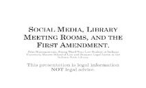Social Media-Meeting Rooms-and the First Amendment PowerPoint Presentation