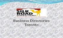 Business Directories Toronto PowerPoint Presentation