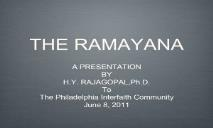 Learn About RAMAYANA PowerPoint Presentation