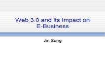 Web 30 and its Impact on E-Business PowerPoint Presentation