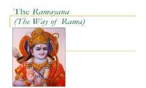 India Ramayana PowerPoint Presentation