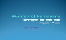 Women of Ramayana PowerPoint Presentation