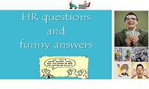 HR Questions and Funny Answers PowerPoint Presentation