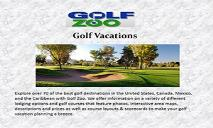 Golf Vacations PowerPoint Presentation