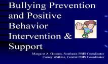 Preventing Bullying PowerPoint Presentation