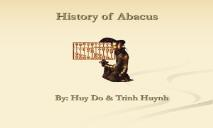 History of Abacus PowerPoint Presentation
