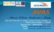 Abacus Vedic Maths PowerPoint Presentation