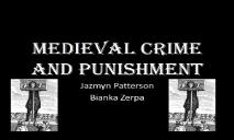 Medieval Crime and Punishment PowerPoint Presentation