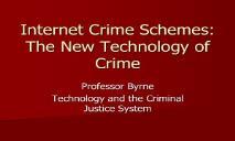 Internet Crime Schemes PowerPoint Presentation