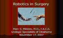 Robotics in Surgery PowerPoint Presentation