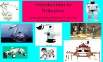 Introduction to Robotics PowerPoint Presentation