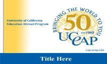 UCEAP 50th Anniversary PowerPoint Presentation