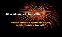 Abraham Lincoln Wiki PowerPoint Presentation