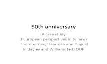 50th anniversary PowerPoint Presentation