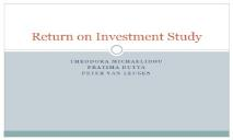 Return on Investment Study PowerPoint Presentation