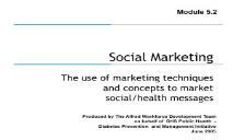 Social Marketing-Department of Health Victoria PowerPoint Presentation