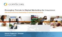 Emerging Trends in Digital Marketing for Insurance PowerPoint Presentation