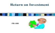 Return on Investment PowerPoint Presentation