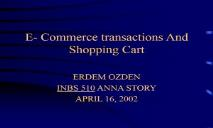 E-Commerce transactions And Shopping Cart PowerPoint Presentation