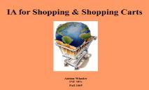 IA for Shopping and Shopping Carts PowerPoint Presentation