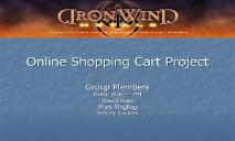 Online Shopping Cart Project PowerPoint Presentation